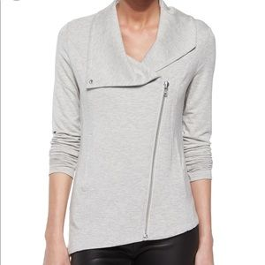 Helmut Lang Asymmetrical Zip Jacket in Grey